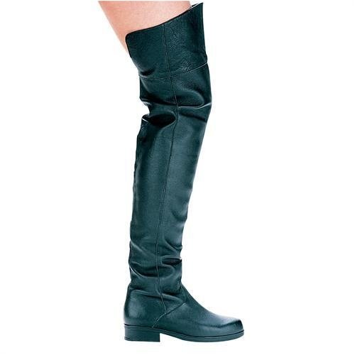 Ellie Shoes - 125-TYLER, 1 Heel Pig Leather Men's Medieval Renaissance Thigh High Boots (Mens Sizes)