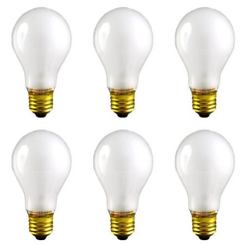 CEC Industries TS100 (Frosted) Silicone Coated, Rough Service Bulbs, 130 V, 100 W, E26 Base, A-19 shape (Box of 6) (Rough Service Bulb 100w compare prices)