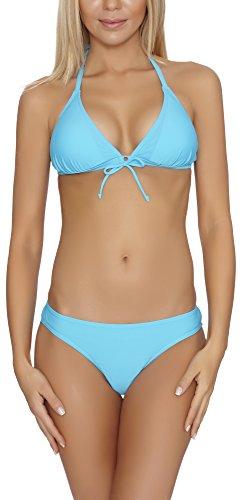Verano Bikini Coordinati per Donna Brasilia (Blu, EU 36 (IT 42))