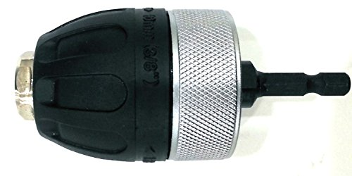 """3/8"""" Keyless Drill Chuck Adaptor for Cordless Impact Driver with Locking Ring"""