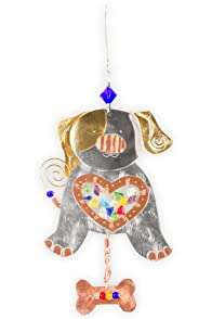 Pilgrim Imports Glowing Puppy Metal Fair Trade Ornament