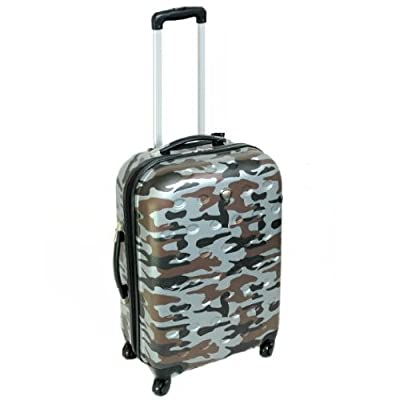 Small 20'' Hard Shell Four Spinner Wheels Trolley Case (Grey) - Cabin Approved