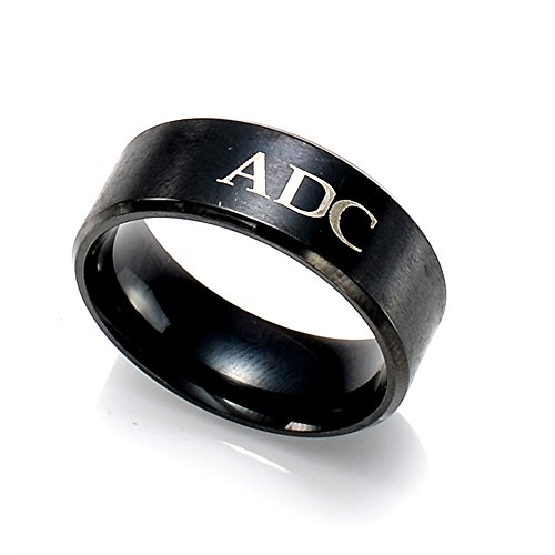 1pc League of Legends Top Jungle Adc Mid Support Stainless Steel Rings