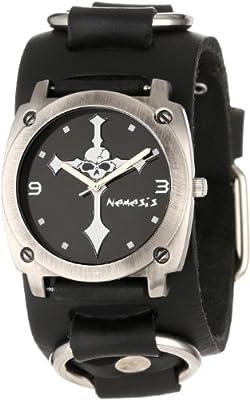 Click for Nemesis Men's RB927K Skull Cross Watch