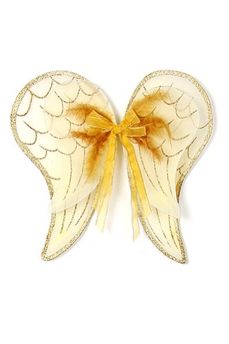 Gold or Silver Angel Wings Toddler Girl Costume Dress Up Wings Fits 2-14