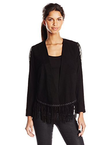 Haute-Hippie-Womens-Embellished-Fringe-Jacket