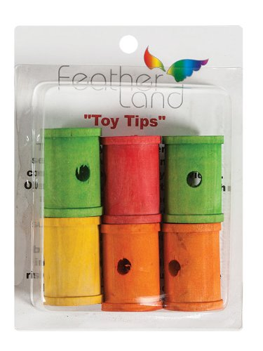 Paradise 1-1/4-Inch by 2-Inch Wood Spools Bird Toy