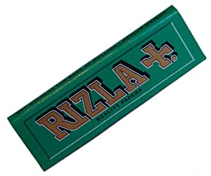 20 PACKETS / BOOKLETS OF RIZLA GREEN CIGARETTE TOBACCO ROLLING PAPERS (1000 PAPERS)