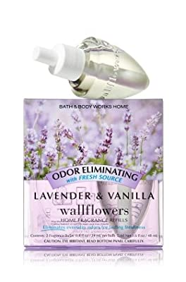 Bath & Body Works Wallflowers Home Fragrance Refill Bulbs Lavender & Vanilla 2 Pack