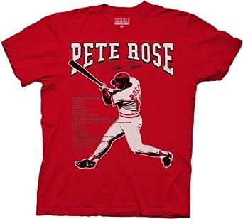 Mens Pete Rose Records T-shirt XL