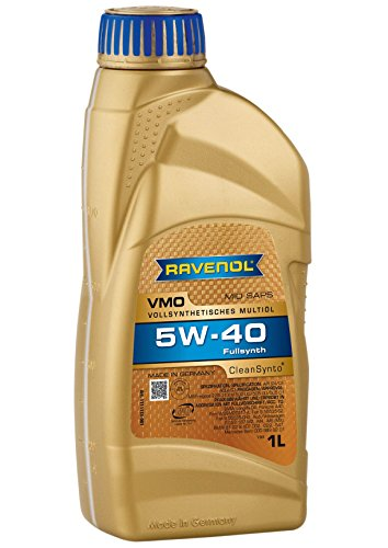 RAVENOL J1A1513 SAE 5W-40 Motor Oil - VMO Full Synthetic VW 502 00, 505 00, MB 229.31 Approved (1 Liter) (Engine Oil 5w40 compare prices)