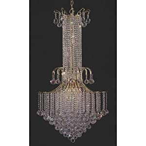 Pagoda Blue Four Arm Scroll Chandelier by Charn  Company