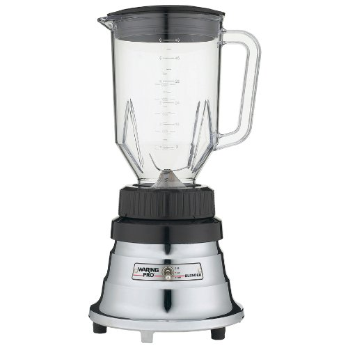 Waring Pro Professional Blender Heavy Duty 500 Watt Motor, with Large 48 Oz Polycarbonate Carafe w/English Metric Graduations with 2 Speeds and Simple Toggle Switch, with Secure-Fitting Lid with 2-Ounce Measuring Cap, Dishwasher Safe Parts