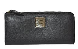 Dooney & Bourke Saffiano Leather Clutch Wallet Purse Black