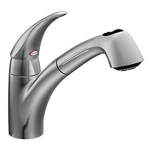 Moen 7560C Extensa One Handle Low Arc Pullout Kitchen Faucet Chrome Touch