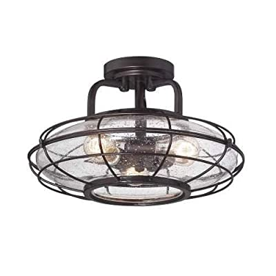 Savoy House 6-574-3 Connell 3 Light Indoor Semi Flush Ceiling Fixture with Seedy,