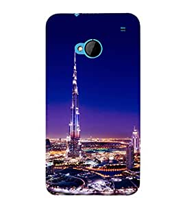 printtech Burj Khalifa Back Case Cover for HTC One M7::HTC M7