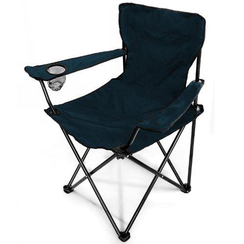 Chaise pliante bleue 80 x 50 x 83 cm mobilier de camping for Chaise 50 cm