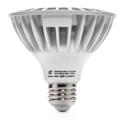 G7 Power Ely LED 14 Watt (75W) 815 Lumens PAR30 Spot Light Bulb, Dimmable 3000K Soft White Light