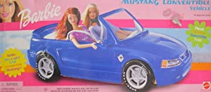 Barbie mustang convertible vehicle car w 39 real for Motorized barbie convertible car