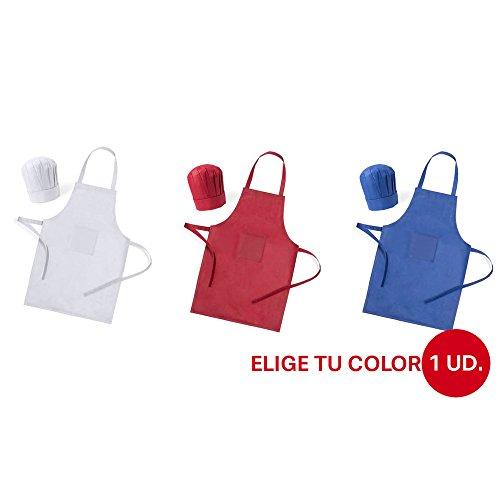 KIT DELANTAL COCINA CHEF JUNIOR UNISEX DISPONIBLE EN VARIOS COLORES -ESPECIAL CHEF -OFERTAS OUTLET -¡ULTIMAS UNIDADES! (Blanco)