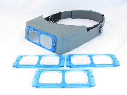Magnifier Jewelry Reading Jeweler Optical Jewelry Visor Headband W 4 Lens Plates