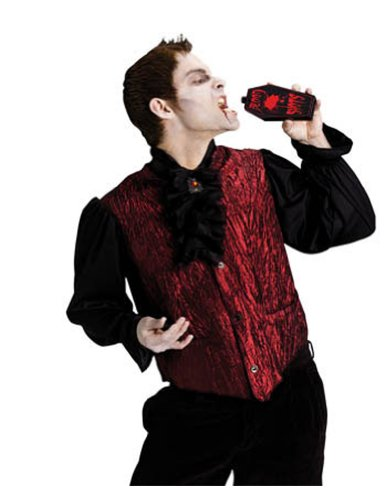 Adult-Costume Drinking Dracula Adult Halloween Costume - Most Adults