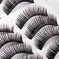 LGG -10 Pair Black Long HANDMADE Voluminous False Eyelash Eye lashes by Boolavard� TM
