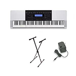 casio wk 220 76 key personal keyboard with usb connection and 152 songs stand ac. Black Bedroom Furniture Sets. Home Design Ideas