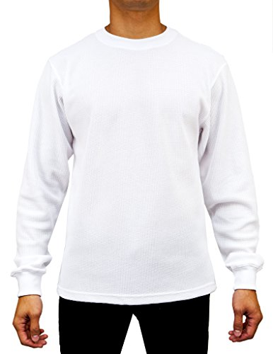 Access Men's Heavyweight Long Sleeve Thermal Crew Neck Top White Extra Large (Mens Thermals White compare prices)