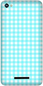 Check Pattern Printed Back Cover Case For Micromax Canvas Hue 2 A316