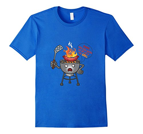Men's BBQ Hot Dog Up On My Grill Summer Grilling Fire Funny Shirt Medium Royal Blue (Bbq Shirt Men compare prices)