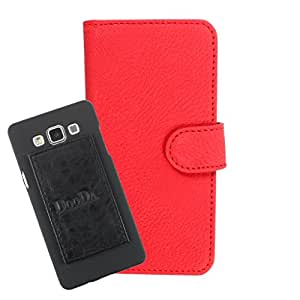 DooDa PU Leather Wallet Flip Case Cover With Card & ID Slots For Acer Liquid Z530 - Back Cover Not Included Peel And Paste