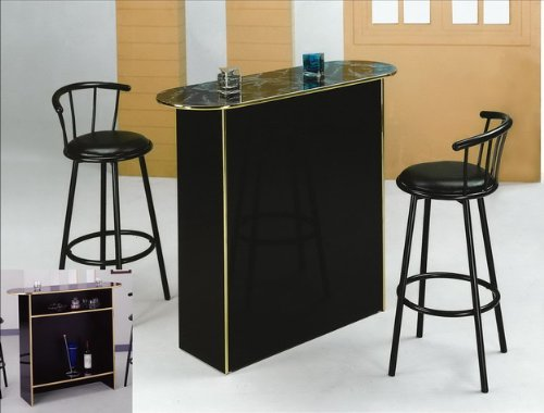 bar table two glass shelves in gloss cappuccino happy hour