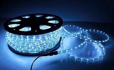 Christmas Lighting LED Rope Light 150ft White II w/ Connector