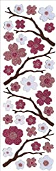 Martha Stewart Glitter Stickers-Cherry Blossoms