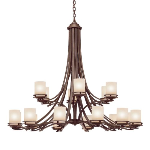 Kichler Lighting 1873OZ 18-Light Hendrik Incandescent Chandelier, Old Bronze