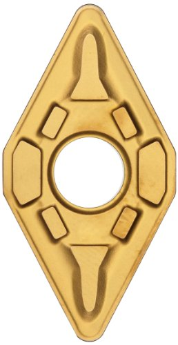 Sandvik Coromant T-Max P Carbide Turning Insert, DNMG, 55 Degree Diamond, MR Chipbreaker, GC2025 Grade, Multi-Layer Coating, DNMG 443-MR, 1/2