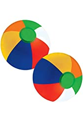 "Kangaroo 12"" Inflatable Beach Ball Assortment, 12-Pack"