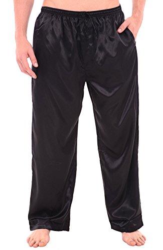 del-rossa-mens-satin-pajama-pants-long-pj-bottoms-medium-black-a0757blkmd