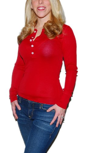 Polo Ralph Lauren Womens Cotton Silk Shirt Top Red Small