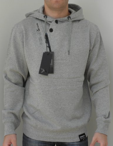 Nickelson Mens NMD0014 Overhead Hoody Grey Marl Large