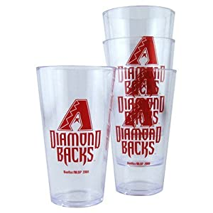 MLB Plastic Pint Cup (Set of 4) MLB Team: Arizona Diamondbacks by Boelter