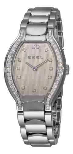Ebel Women's 9956P38/1691050 Beluga Tonneau Beige Diamond Dial Watch