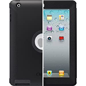 OtterBox Defender Series Case with Screen Protector and Stand for iPad 4th Generation, iPad 2 and 3 - Black