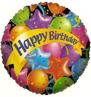 """Birthday Balloon 18"""" (5 ct) - 1"""