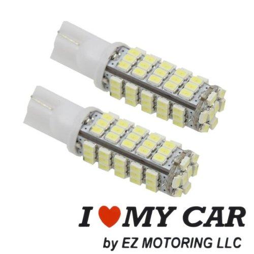 2Pcs 68-Smd T15 12V Led Replacement Light Bulbs + Sticker 921 912 906 - White