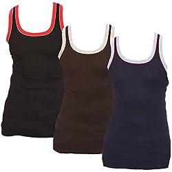 Jungfrau Men's Premium Sports Vest (Pack Of 3) (3JFPSPVST_Multi Color_85)