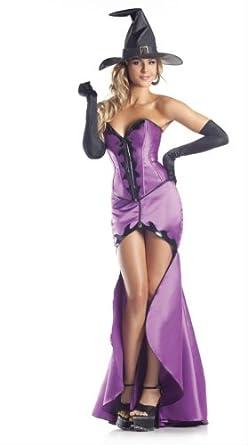Be Wicked Costumes Women's Hokus Pokus Heart Throb Costume, Purple/Black, Small/Medium