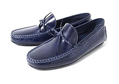 Daniele Lepori Indios Bow Tie Dive Moccasin 10sm: Navy